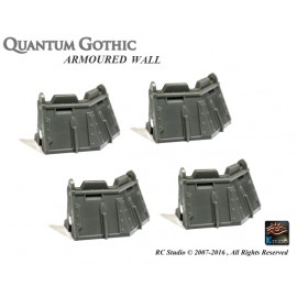 Armoured Wall - Out 45° Corner set (x 4)