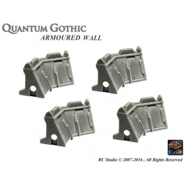 Armoured Wall - In 45° Corner set (x 4)